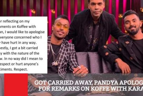 Got Carried Away, Pandya Apologies For Remarks On Koffe With Karan