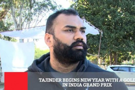 Tajinder Begins New Year With A Gold In India Grand Prix