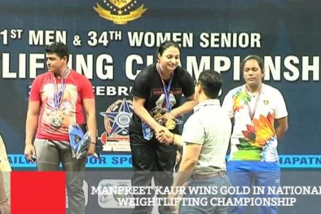 Manpreet Kaur Wins Gold In National Weightlifting Championship