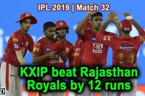 IPL 2019 - Match 32 - KXIP beat Rajasthan Royals by 12 runs
