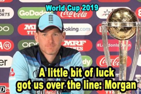 A little bit of luck got England over the line: Morgan