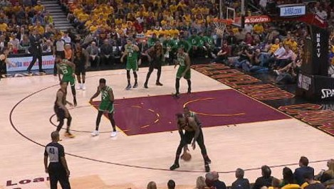 LeBron s spin move and one-handed finish