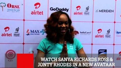 Watch Sanya Richards Ross Jonty Rhodes In A New Avataar
