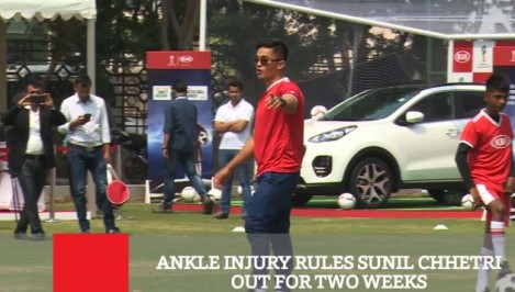 Ankle Injury Rules Sunil Chhetri Out For Two Weeks