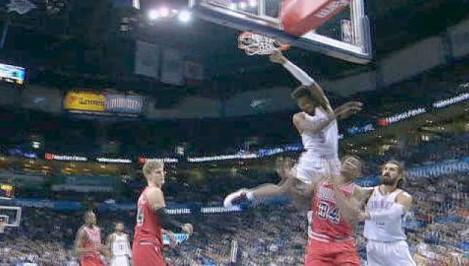 Grant s big dunk in OKC win