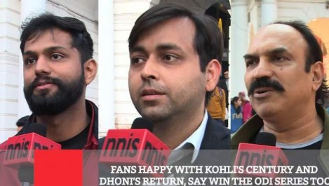 Fans Happy With Kohli s Century And Dhoni s Return Say Win The ODI Series Too