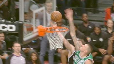 NBA: Theis pins Harris layup on backup