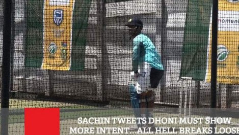Sachin Tweets Dhoni Must Show More Intent. All Hell Breaks Loose