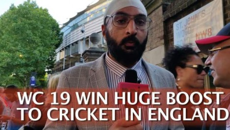 Wc 19 Win Huge Boost To Cricket In England