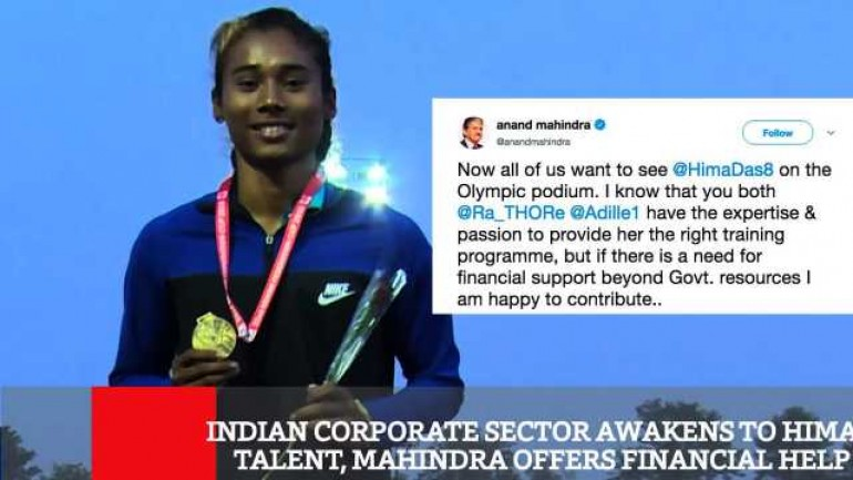 Indian Corporate Sector Awakens To Hima s Talent Mahindra Offers Financial Help