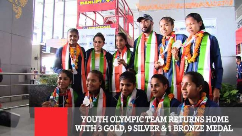 Youth Olympic Team Returns Home With 3 Gold 9 Silver 1 Bronze Medal