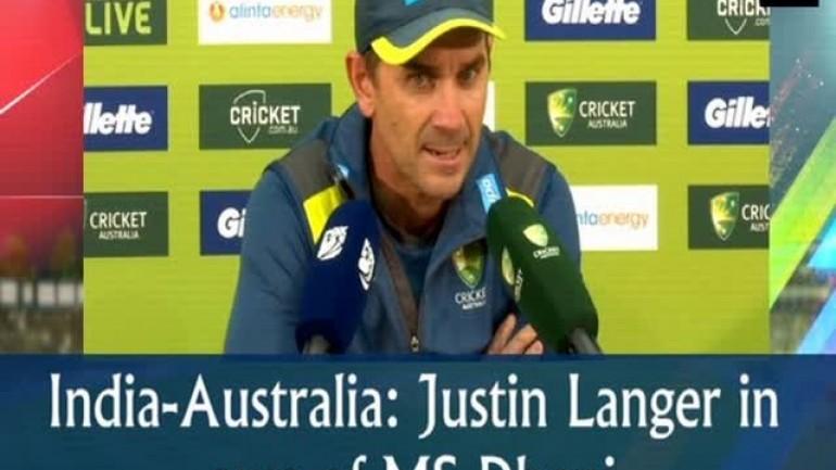 India vs Australia: Justin Langer in awe of MS Dhoni