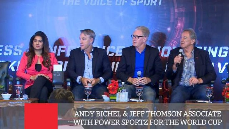 Andy Bichel Jeff Thomson Associate With Power Sportz For The World Cup