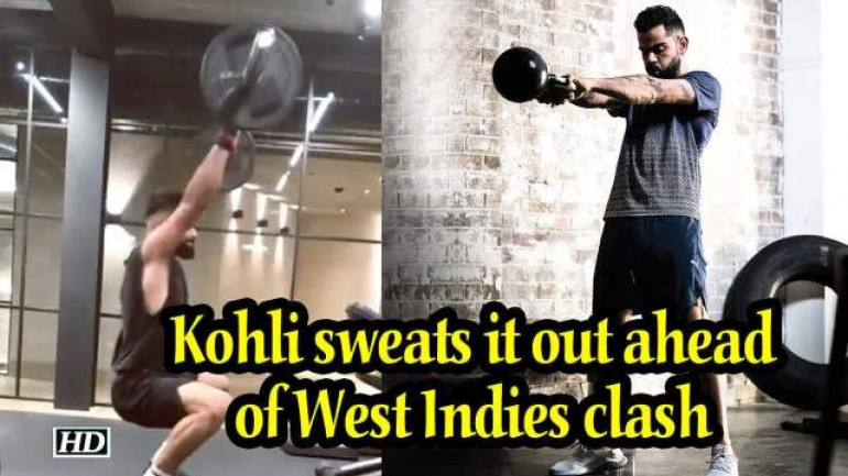 World Cup 2019 - Kohli sweats it out ahead of West Indies clash