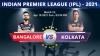 IPL 2021, RCB vs KKR Match 10 Live
