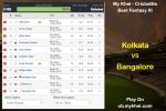 My Khel - Cricbattle Daily Fantasy Cricket League Tips: Kolkata vs Bangalore on April 19