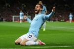 Manchester United 0 Manchester City 2: Silva, Sane send Man City back to summit