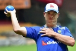 Warner presents signed team shirt to injured net bowler