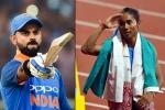 Virat Kohli leads Indian cricketers to congratulate 'golden girl' Hima Das