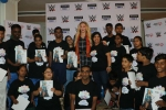 WWE Superstar Charlotte Flair celebrates Children's Day in India