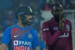 India Vs West Indies: Kesrick Williams gives a 'keep shut' send off to Virat Kohli after getting his revenge