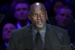 Michael Jordan pays tearful tribute to 'little brother' Kobe Bryant