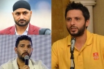 They are doing it out of compulsion: Shahid Afridi responds to Harbhajan Singh, Yuvraj Singh's remarks against him