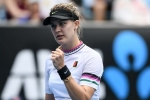 Bouchard back with a win before storm halts Prague proceedings