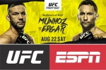 UFC Vegas 7: Munhoz battles Edgar in bantamweight thriller on August 22