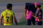IPL 2020: Yashasvi Jaiswal greets MS Dhoni with a Namaste as he meets CSK captain on the field