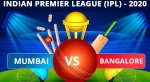 IPL 2020: MI vs RCB Dream11 Team Prediction, Tips, Best Playing 11 details