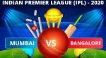 IPL 2020: MI vs RCB Dream11 Team Prediction, Tips, Best Playing 11 details