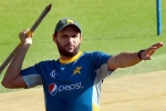 Shahid Afridi expresses displeasure after umpire refuses to take cap