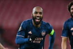 Arsenal 4-1 Rapid Vienna: Lacazette rediscovers goalscoring touch