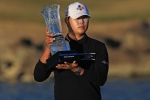 Kim edges Cantlay to win The American Express
