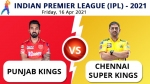 IPL 2021, PBKS vs CSK Match 8 Live Updates: Dhoni's Chennai clash with Rahul's Punjab in Mumbai