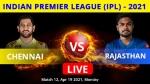 IPL 2021, CSK vs RR Match 12 Live Updates: Samson's Royals take on Dhoni's Super Kings