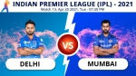 IPL 2021: DC vs MI Match 13: Toss report and playing 11 update - Mumbai opt to bat first