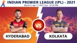 IPL 2021: SRH vs KKR Match 3: Toss report and playing 11 updates