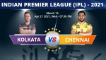 IPL 2021: KKR vs CSK, Match 15 Live Updates: Struggling Kolkata Knight Riders set to face Chennai Super Kings