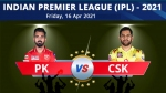 IPL 2021: PBKS vs CSK: Preview, Live Telecast, Live Streaming, TV timing, Pitch report