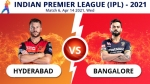 IPL 2021: RCB vs SRH Match 6 Toss, Playing XI: Sunrisers Hyderabad win the toss and opt to bowl first