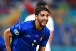 Italy 3-0 Switzerland: Locatelli double sends Mancini's men through