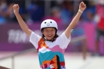 Tokyo Olympics: 'Delighted' skateboarder Nishiya becomes second-youngest gold medallist