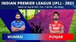 IPL 2021, MI vs PBKS Match 42 Toss and Playing 11: Mumbai opt to bowl first, drop Ishan Kishan