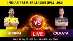 IPL 2021: CSK vs KKR, Match 38 Live Updates: Morgan & Co. look to stop CSK juggernaut
