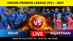 IPL 2021: DC vs RR Match 36: Toss, Playing XIs: Rajasthan Royals elect to bowl first against Delhi Capitals