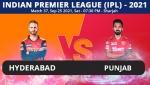 IPL 2021: SRH vs PBKS, Match 37 Live Updates: Sunrisers Hyderabad take on Punjab Kings