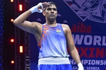 Narender enters pre-quarters at the 2021 AIBA Men's World Boxing Championships