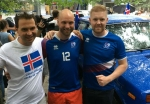 Lada replaces longboat for Iceland fans